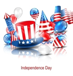 Party Background in Traditional American Colors vector image vector image