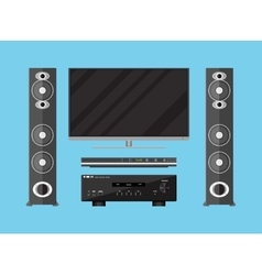 set of detailed home theater devices vector image vector image