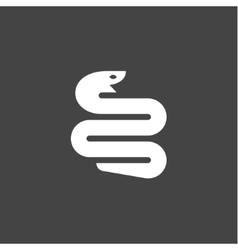 Snake icon in modern minimalist style flat trend vector image