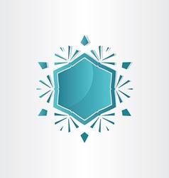 snowflake window abstract design vector image vector image