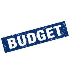 Square grunge blue budget stamp vector