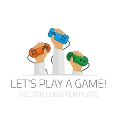 Template logo player vector image vector image