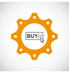 Buy button icon Gear design graphic vector image vector image