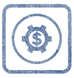 financial settings fabric textured icon vector image
