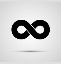infinity icon black template design element vector image