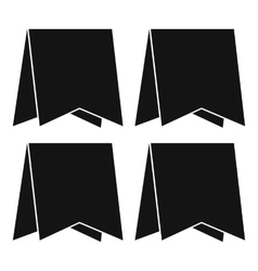 Pennants icon simple style vector image vector image