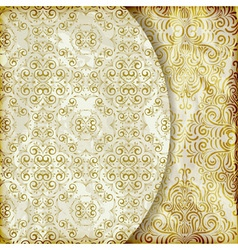 retro background with vintage floral patterns vector image