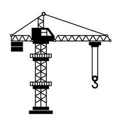 Tower Crane Icon in White Background vector image