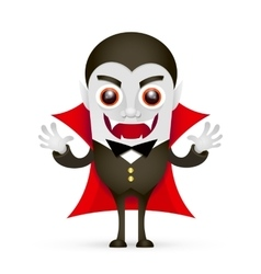 Vampire or Dracula on white background vector image