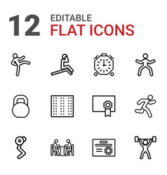 12 training icons vector