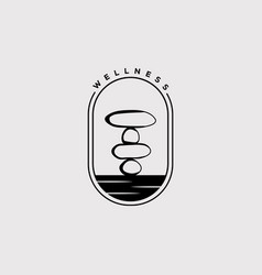Balance stone logo design wellness zen symbol vector