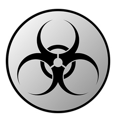 Biohazard sign button vector image