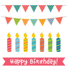Birthday candles and decoration vector