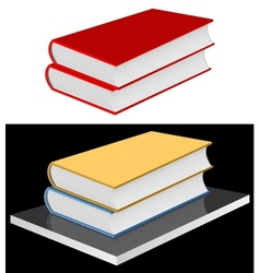 Books on the shelf vector