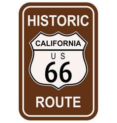 California historic route 66 vector