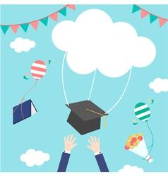 Celebrations graduation vector