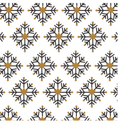 christmas snowflake decoration celebration vector image