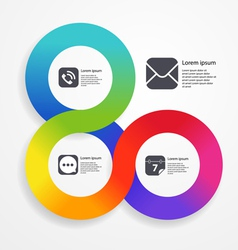 Circle infographic web template of color stripe vector image