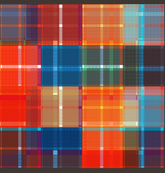colored design tartan fabric pattern for shirts vector image
