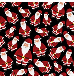 colorful cartoon Santa Claus black seamless vector image