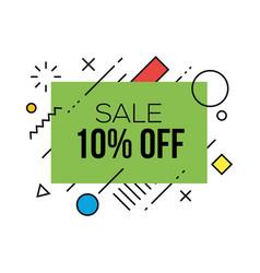 colorful sale badges design templates vector image