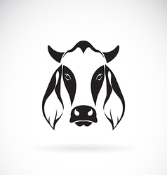 Cow head design vector