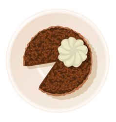 cream cake icon cartoon style vector image