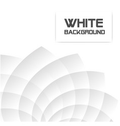 creative white geometric white background i vector image