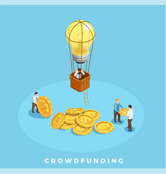 Crowdfunding and money vector