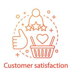 Customer satisfaction concept icon vector