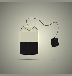 disposable tea bag icon vector image