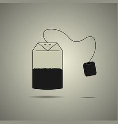Disposable tea bag icon vector