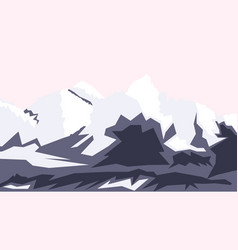 drawing of mount everest hill tops nepal vector image