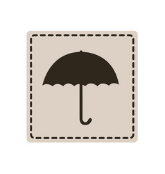 emblem sticker umbrella icon vector image