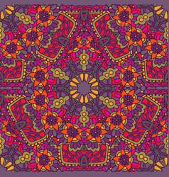 ethnic seamless pattern mandala design vector image