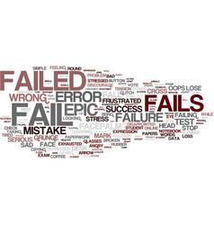 Fails word cloud concept vector
