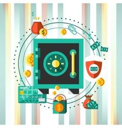 Financial safe concept vector image