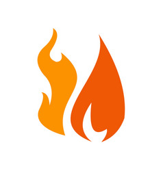 fire logo design vector image