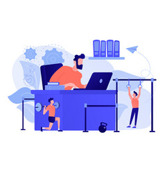Fitness-focused workspace concept vector