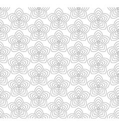 Flowers black and white abstract seamless pattern vector
