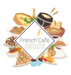 french cafe food menu french vector image