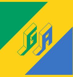 ga - international 2-letter code or national vector image