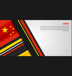 Geometric background design with red yellow black vector
