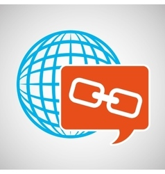 Global web network link web icon vector