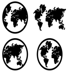 Globe icon1 resize vector image