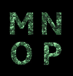 green camouflage letters vector image