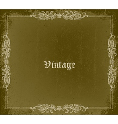 Grunge vintage frame vector