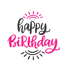 Happy birthday to you poster template vector