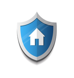 home security and protection icon concept shield vector image