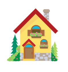 house cartoon or clipart cartoon vector image